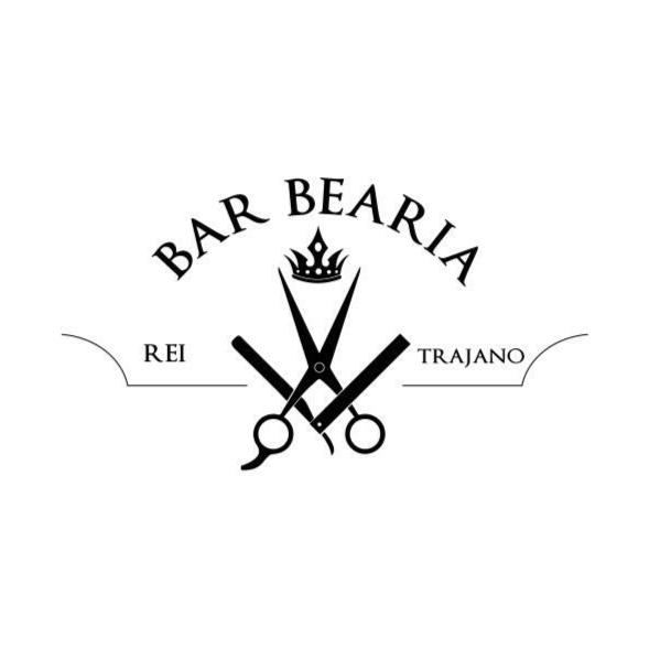 Logo Barbearia Rei Trajano