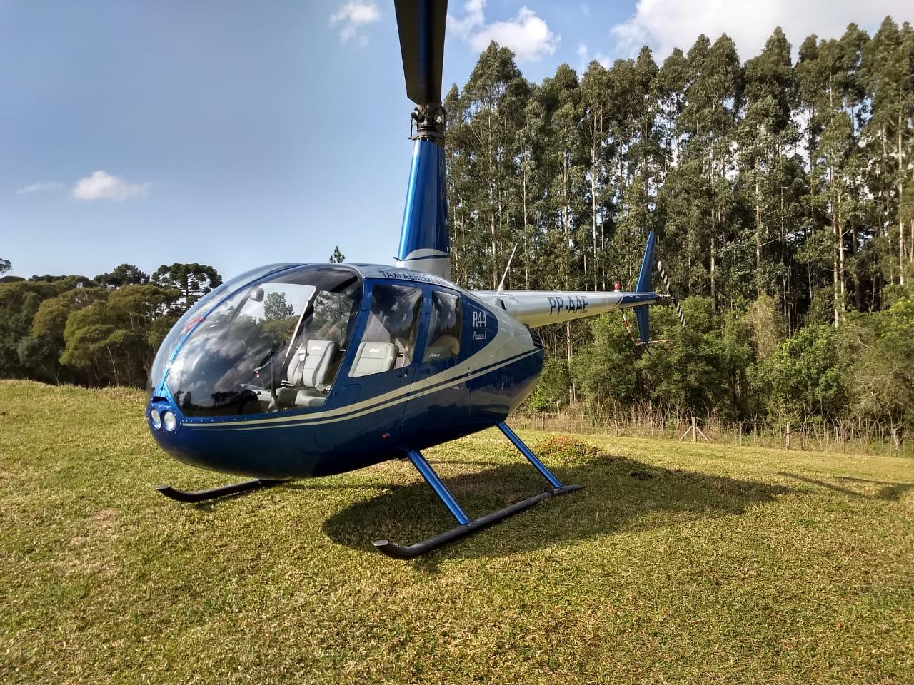 Dia das mães tem passeio de helicóptero no Caminho do Vinho