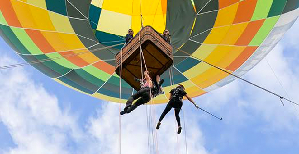 Ekôa Park tem passeio de balão e atividades para as crianças nas férias