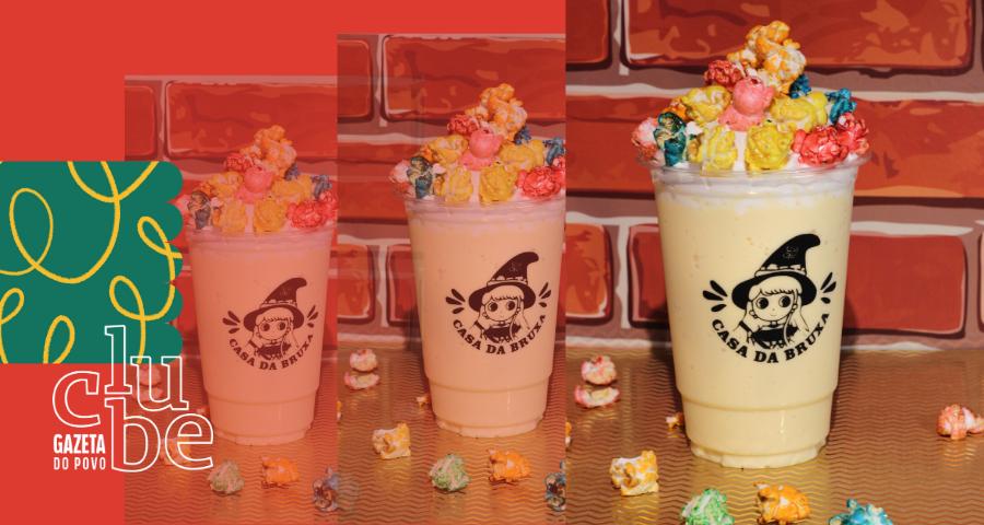 Conheça o Milkshake de pipoca da Casa da Bruxa