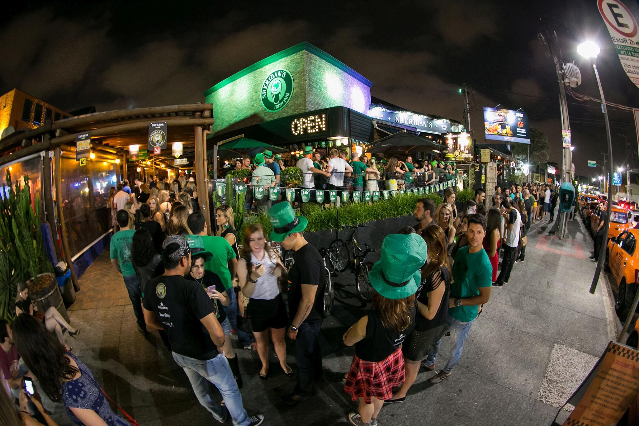 Saint Patrick's do Sheridan's tem quatro noites, três palcos e 21 atrações