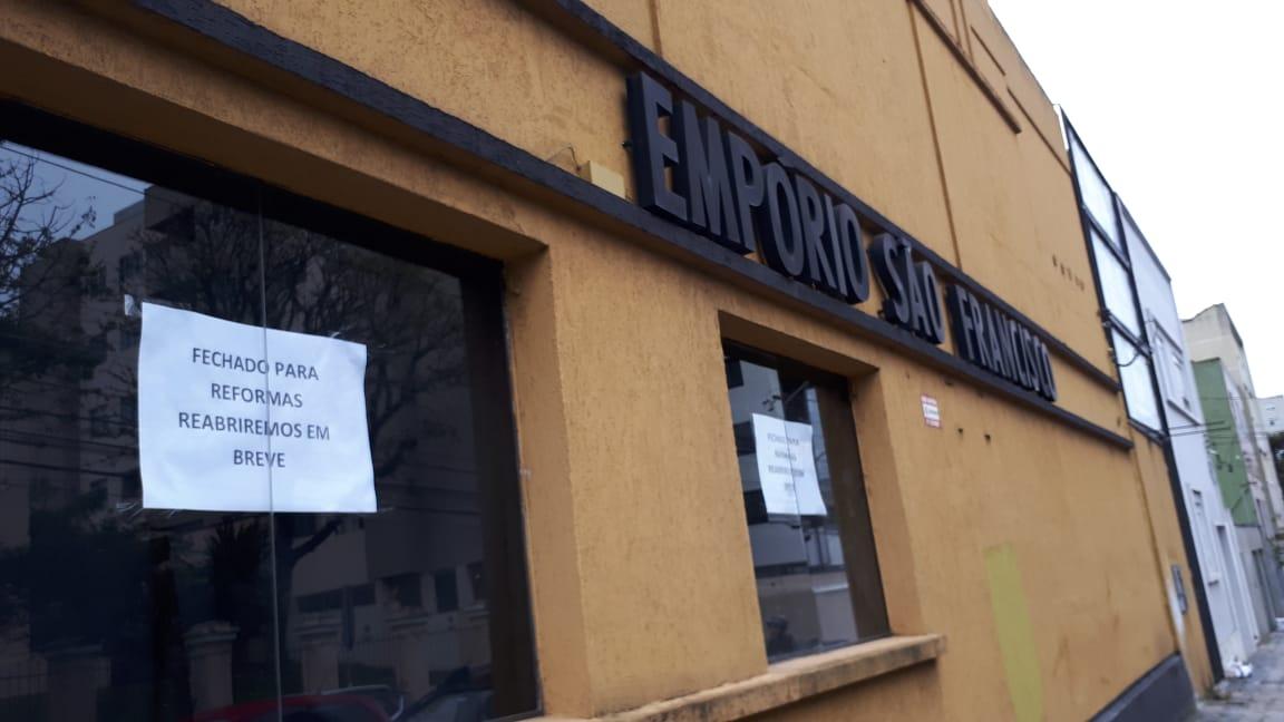 Empório São Francisco fecha para reformas