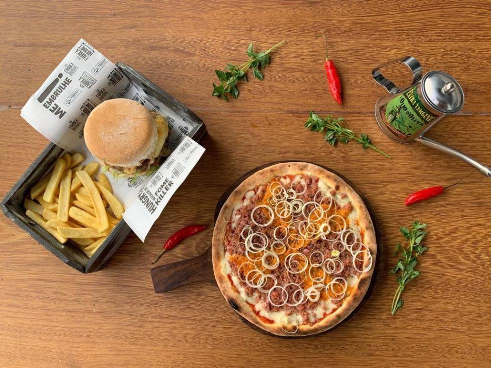 Complexo reúne doces, pizzas e hambúrguer no mesmo espaço