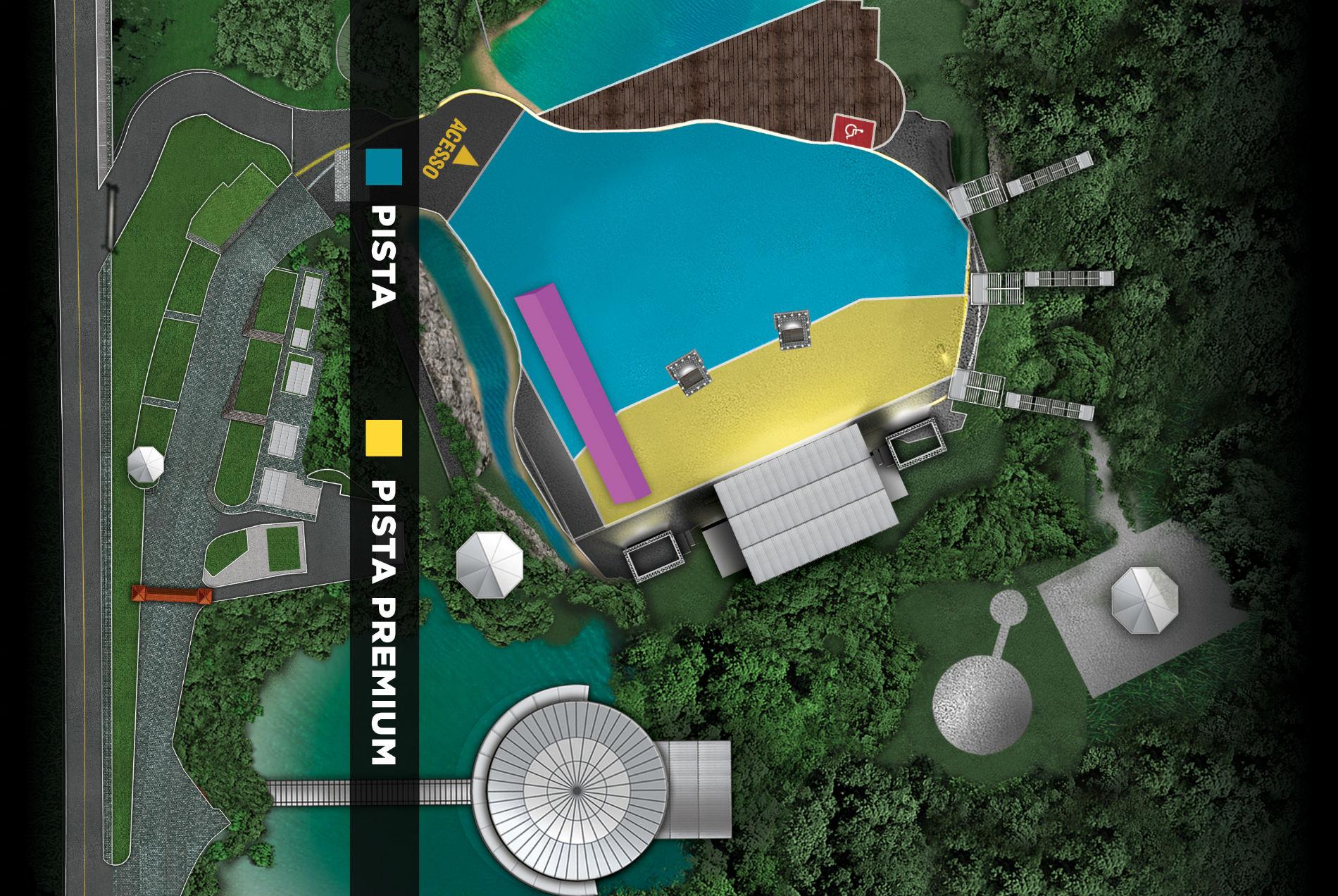Vai ao show do Aerosmith? Veja o mapa de setores e saiba por onde entrar na Pedreira