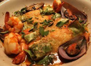 Conheça o cannelloni de frutos do mar do Pescara