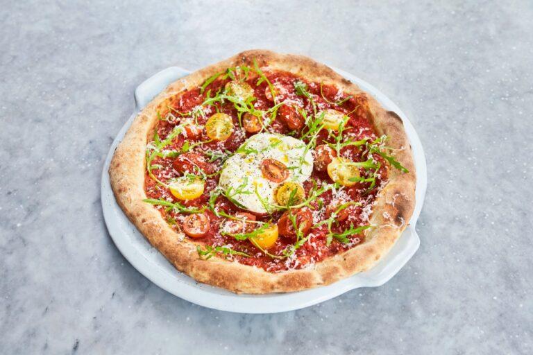 Jamie's Italian tem pizza de burrata