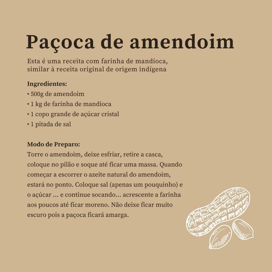 Receita de paçoca de amendoim