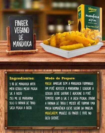 Receita vegana de mandioca Vapza