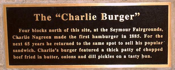 Charlie Hambúrguer placa comemorativa