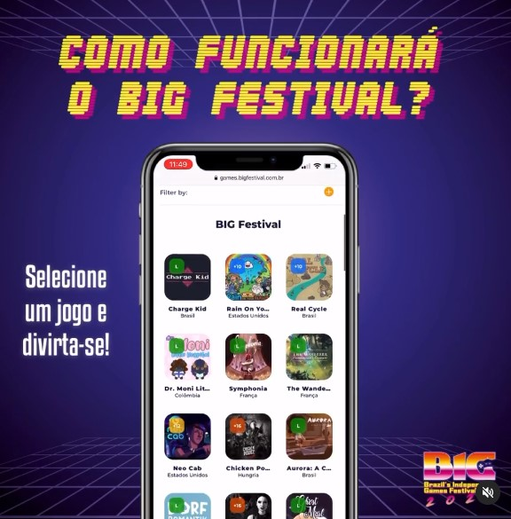 Game grátis no Big Festival