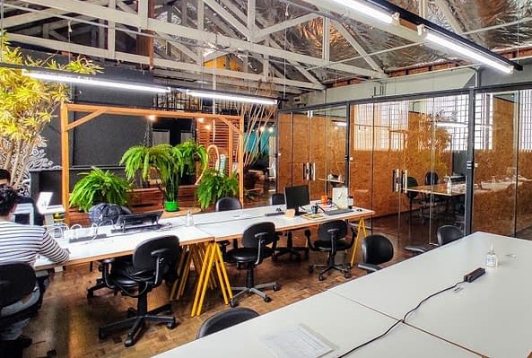 home office alternativo,  o coworking Aldeia