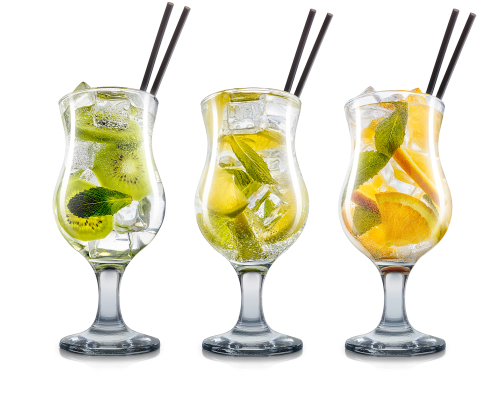 Três versões dos drinques gim